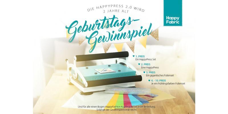 HappyPress Geburtstag Gewinnspiel