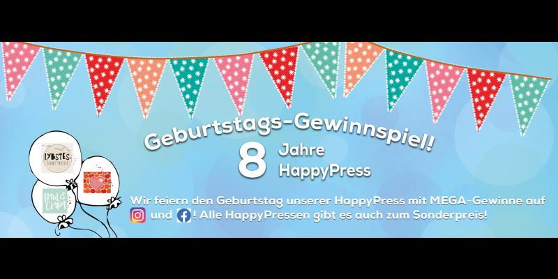 Gewinnspiel zum 8. Geburtstag der HappyPress